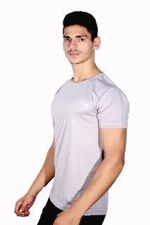 Scoop dry-fit grey round neck short-sleeve
