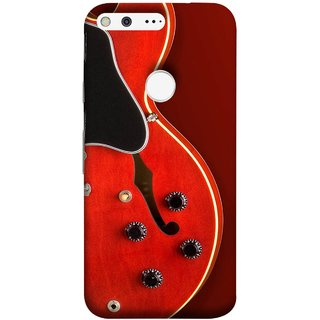 FUSON Designer Back Case Cover For Google Pixel XL (Close Up Of Electric Guitar Leaning On Amplifier )