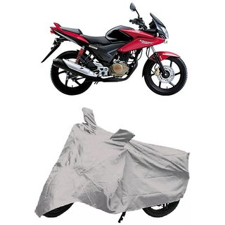 De Autocare Premium Quality Silver Matty Two Wheeler Bike Body Cover For Honda CBF Stunner