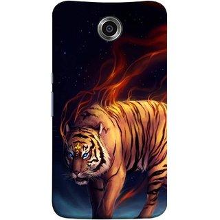 FUSON Designer Back Case Cover For Motorola Nexus 6 :: Motorola Nexus X :: Motorola Moto X Pro :: Google Nexus 6 (Jungle King Stearing Leopard Jaguar Aslan Panther Lion)