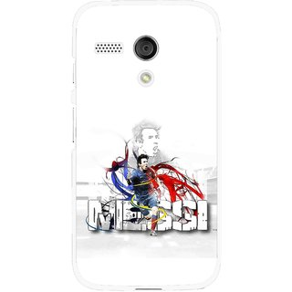 Snooky Printed Messi Mobile Back Cover For Moto G - White