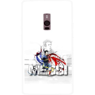 Snooky Printed Messi Mobile Back Cover For OnePlus 2 - White