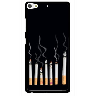 Snooky Printed Smoking Mobile Back Cover For Gionee Elife S7 - Multi