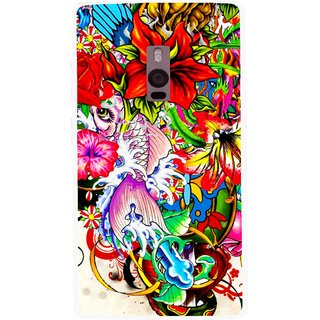 Snooky Printed Horny Flowers Mobile Back Cover For OnePlus 2 - Multi
