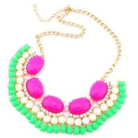 Paisley Bay Multi- Colour Awesome Alloy Party Wear Choker Necklace