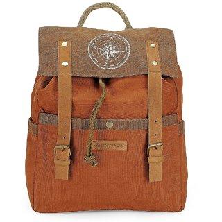 The House of Tara Dual Tone Canvas Backpack (Rust) HTBP 128