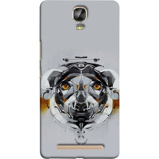 FUSON Designer Back Case Cover For Gionee Marathon M5 Plus (Multicolour Dog Perfect Look King Bird Night Tree)