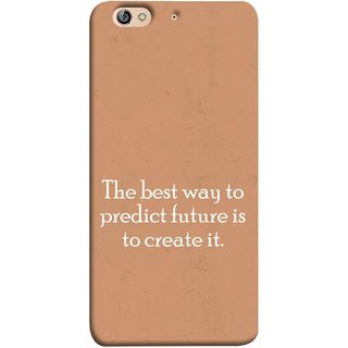 FUSON Designer Back Case Cover For Gionee Elife S7 (Yourself Motivational Inspirational Saying Quotes)
