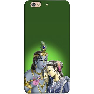 FUSON Designer Back Case Cover For Gionee Elife S7 (Peacock Feather Bansuri Flute Gold Jewellery Best Couple)