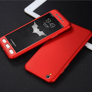 new product 6a785 9d647 Oppo A37 Red Colour 360 Degree Full Body Protection Front Back Case Cover  Standard Quality