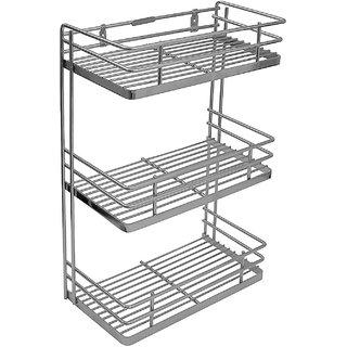 Klaxon Stainless Steel Spice Rack (Silver)