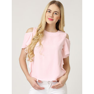 13e47ac45c59f Buy Westrobe Women Baby Pink Cold Shoulder Top Online - Get 50% Off
