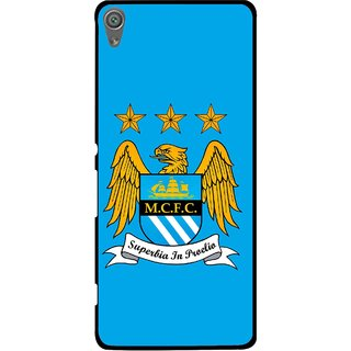 Snooky Printed Eagle Logo Mobile Back Cover For Sony Xperia XA1 - Blue