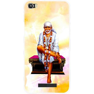 Snooky Printed Sai Baba Mobile Back Cover For Lava Iris X8 - Yellow