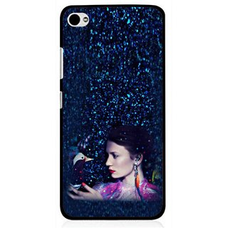Snooky Printed Blue Lady Mobile Back Cover For Lenovo s90 - Multi