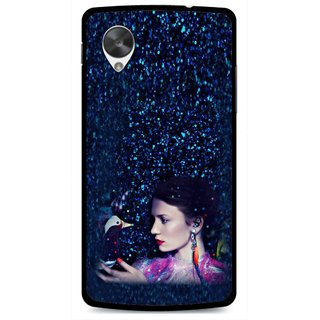 Snooky Printed Blue Lady Mobile Back Cover For Lg Google Nexus 5 - Multi