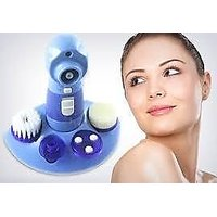 4 In1 Face Wash Face Cleaner  Perfect Pore Cleaned Brush Rotary Massager_H7BM42