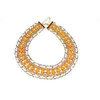 Paisley Bay Multi- Colour Dazzling Alloy Party Wear Choker Necklace