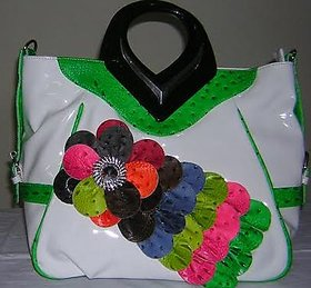 Ladies PU Hand Bag Multi Color