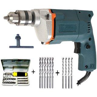 Tiger 10mm Drill machine with 41pcs Screwdriver Power + 6 HSS Bit+ 4 Masonry Bit