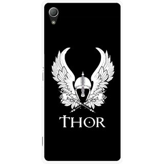 Snooky Printed The Thor Mobile Back Cover For Sony Xperia Z3 - Black