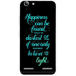 Snooky Printed Everywhere Happiness Mobile Back Cover For Lenovo Vibe K5 Plus - Black
