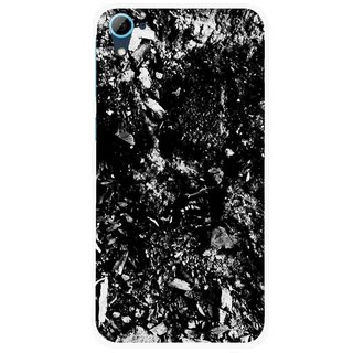 Snooky Printed Rocky Mobile Back Cover For HTC Desire 826 - Black
