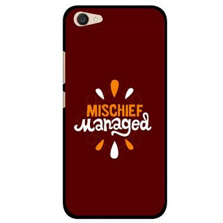 Snooky Printed Mischief Mobile Back Cover For Vivo V5 Plus - Brown
