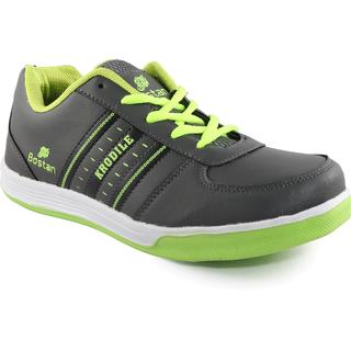 Bostan Grey & Green Sports Shoes for Men