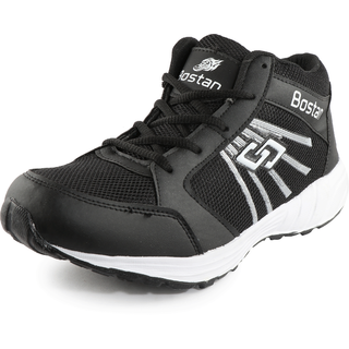 Bostan High Ankle Black Sports Shoes for Men