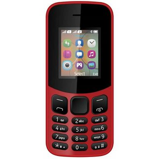 IKall K12 New Red (Dual Sim 1.8 Inch Display BIS Certified Made In India) Mobile with Manufacturing Warranty