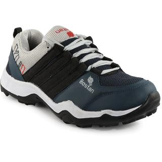 Bostan Navy & Grey Sports Shoes for Men