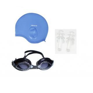 Swimming Combo (Ear Swimming Cap + Eye Cover + Ear Pin)