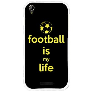 Snooky Printed Football Is Life Mobile Back Cover For Lava X1 Mini - Black
