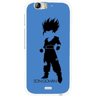 Snooky Printed Son Gohan Mobile Back Cover For Micromax Canvas Turbo A250 - Blue