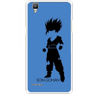 Snooky Printed Son Gohan Mobile Back Cover For Oppo F1 - Blue