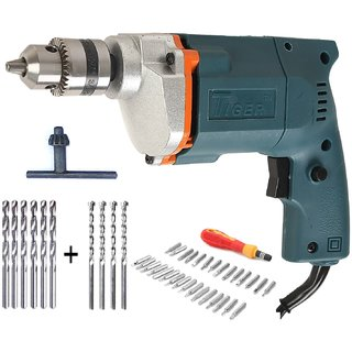 Tiger 10mm Drill machine with 31 Screwdriver Set + 6 HSS Bit+ 4 Masonry Bit