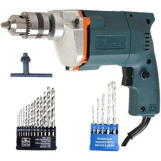 Tiger 10mm Drill  Bit Tool Kit 13HHS Bits + 5 Masonry Bits