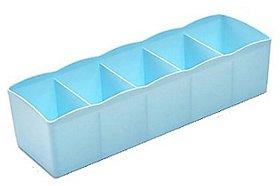 SYGA Blue Multi Function Desktop storage Box Deep Desk Drawer Organizer Tray(Set of Three)