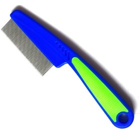 W9 Imported High Quality Toothed Flea Comb Cleaning Grooming Brush Hair Tool (Blue Green)