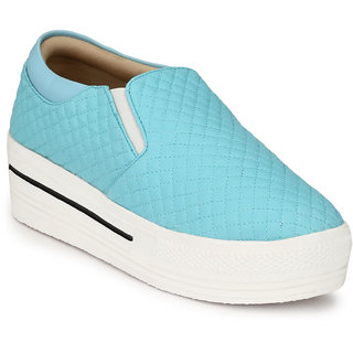 Groofer Women's Sky Blue Smart Casuals Shoes