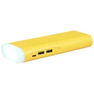Maxim High Speed Charging 10000 Mah Top Light Power Bank (Yellow) Suitable For All Smart Phones