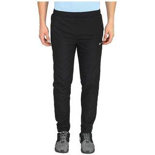 Nike Black Polyester Lycra Trackpants