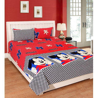 Fame Sheet Cotton Micky Mouse Bedsheet