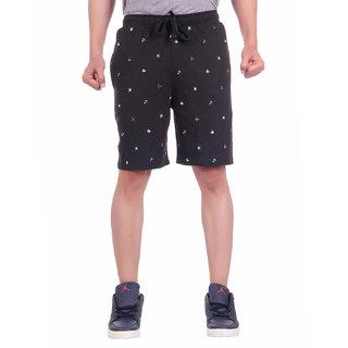 Dfh Men Black Printed Shorts
