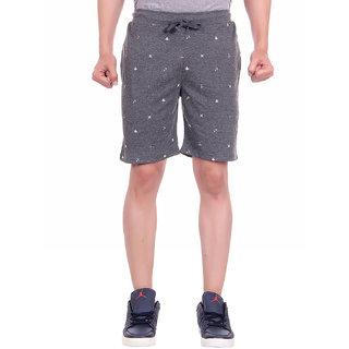 Dfh Men Grey Printed Shorts