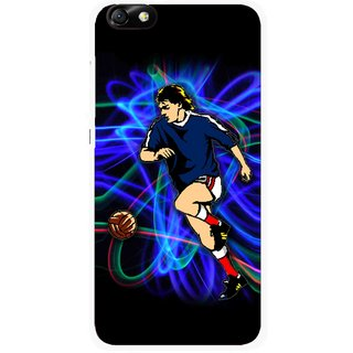 Snooky Printed Football Passion Mobile Back Cover For Huawei Honor 4X - Multi