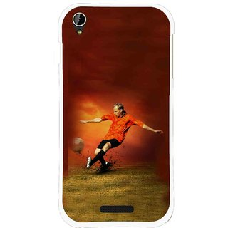 Snooky Printed Football Mania Mobile Back Cover For Lava X1 Mini - Multi
