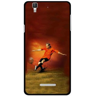 Snooky Printed Football Mania Mobile Back Cover For Coolpad Dazen F2 - Multi