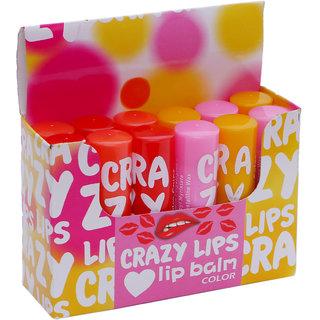 Skyedventures Crazy lip's 4 Color Lip Balm Pack of 12 (Sky-014)